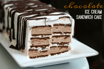Chocolate Ice Cream Sandwich Cake