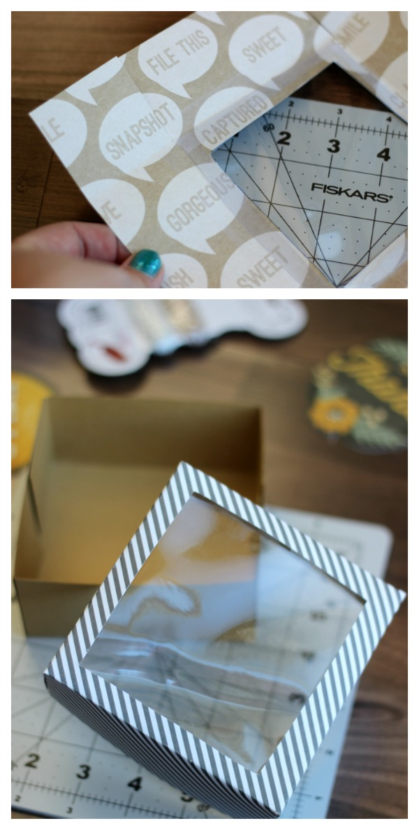 Cardstock Treat Box Tutorial {free template}