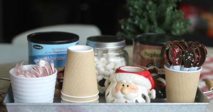 Hot Cocoa Bar To Use All Winter Long