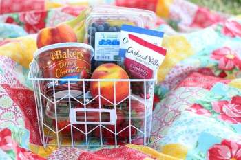 Chocolate Fruit Basket Gift Idea