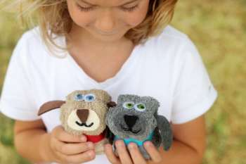 No-Sew Washcloth Puppy Dog Pals