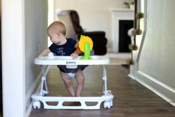 Keeping Baby Safe When Moving Into a New Home {Joovy SPOON Walker}