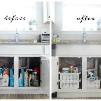 Kitchen Organization: Organize under your sink in 5 steps!