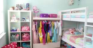 Girls Room and Closet Organization In a Small Space