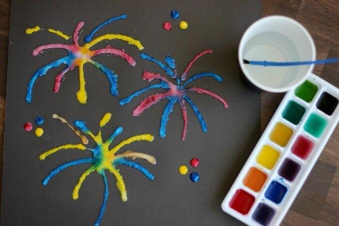 Salt Art Painting for Kids Gluesticks