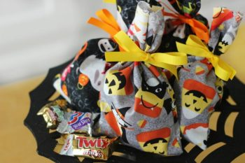 Sewing Tutorial for Kids: Boo Treat Bags for Halloween!