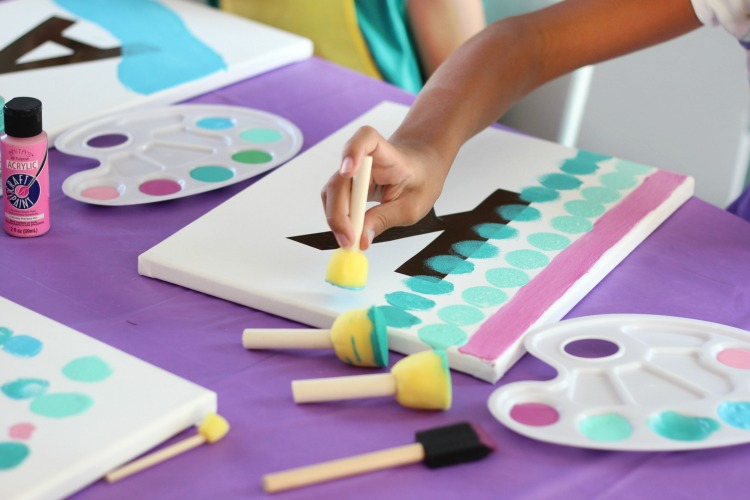 Diy Painting Party For Kids Party Ideas