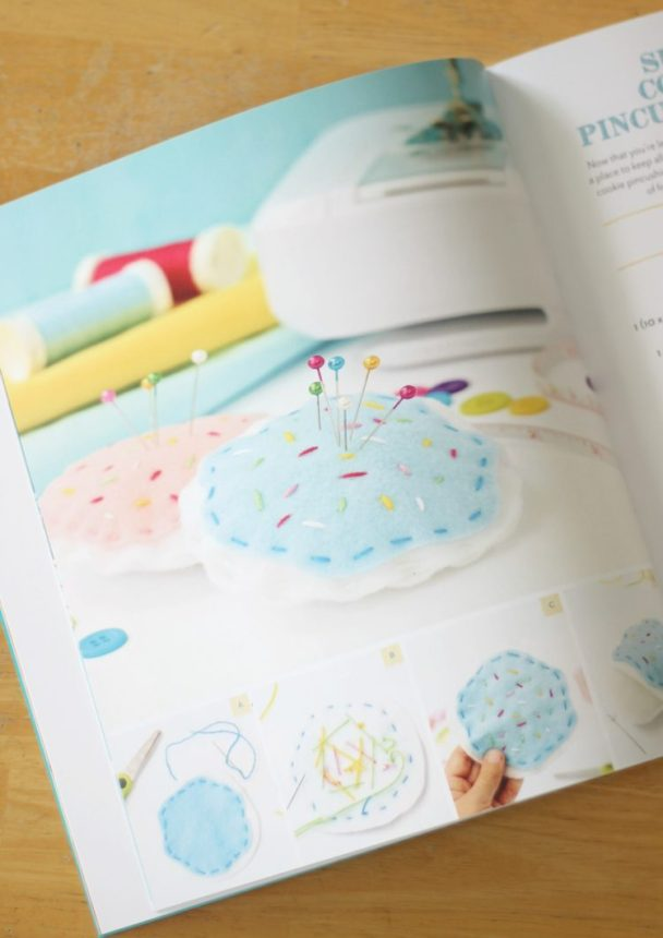 Now that you're learning to sew, you'll need a place to keep all of your pins. Here is a simple DIY felt pincushion shaped like a sugar cookie! Complete with your favorite flavor of frosting and colorful sprinkles!