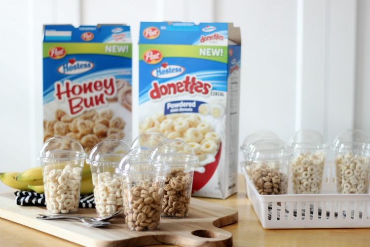 These cereal cups are the perfect on the go breakfast or snack. Prepare a basketful to store in the pantry then add a splash of milk before heading out the door!