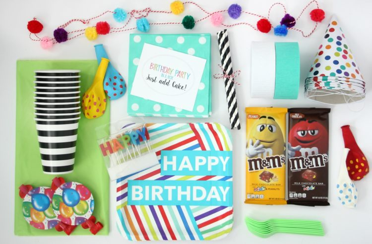 Send your friend a birthday party in a box this year. All they need to do is supply the cake! Comes with party decor, serving ware and a printable tag!