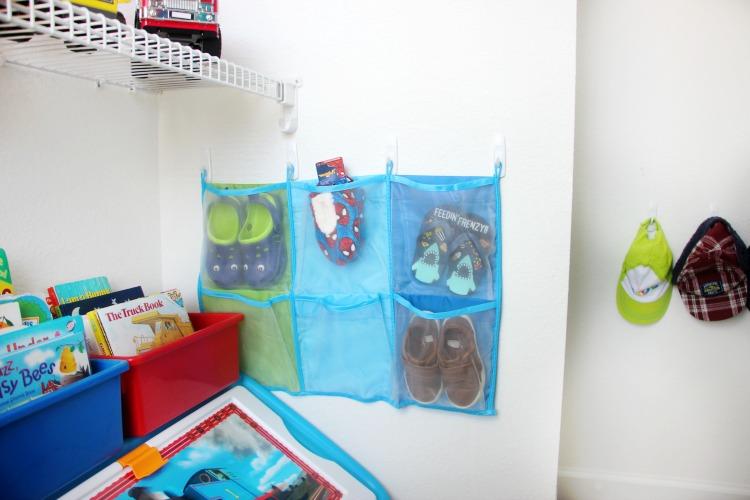 shoe storage in toddler bedroom