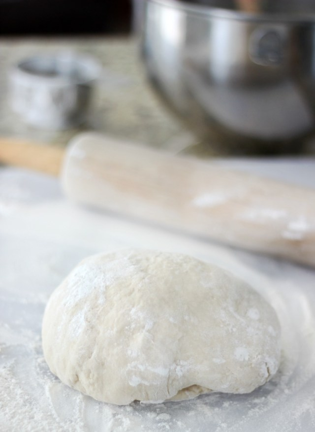 quick and easy lemon sweet roll dough on counter