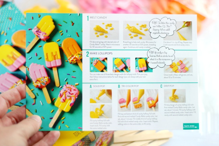 step by step instruction card to make cupcake toppers