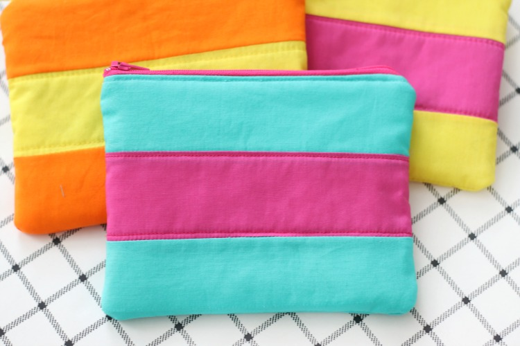 Color Block Cosmetic Bag - Easy Sewing Tutorial