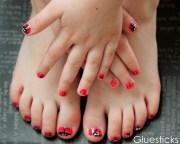 ladybug nails gluesticks
