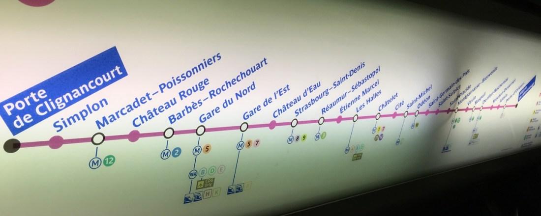 Die Anreise führt mich per Metro quer durch Paris