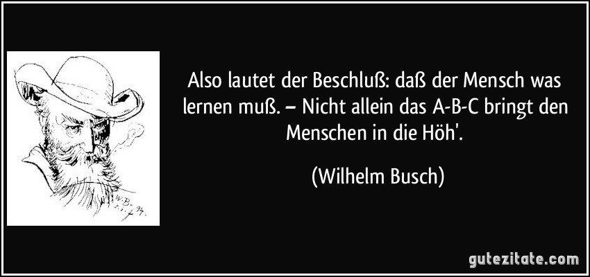 Zitat Wilhelm Busch