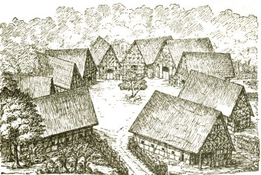 layouts of a village in the middle ages Glumbosch s Schmiede