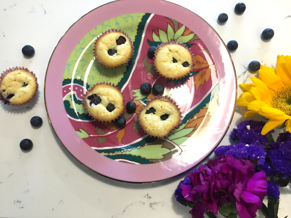 Grab and Go, Keto Macadamia Nut Blueberry Muffins