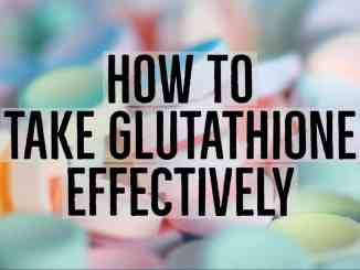 Taking in glutathione effectively