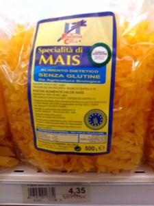 Corn-based gluten free pasta