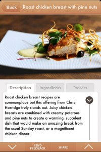 screenshot from the Gluten Free Recipes App