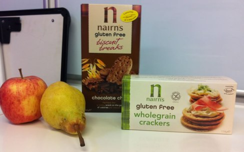 photo of Nairn's wholegrain crackers & chocolate chip biscuits