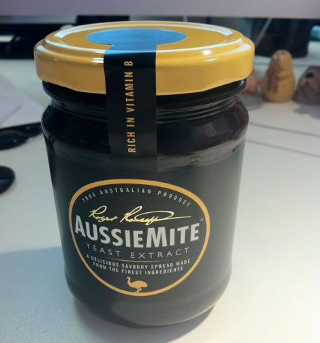 photo of a jar of Aussiemite