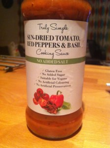 Truly Simple Sun-Dried Tomato, Red Peppers & Basil Cooking Sauce