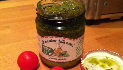 photo of the jar of pesto