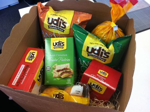 Udi's Gluten Free box of goodies
