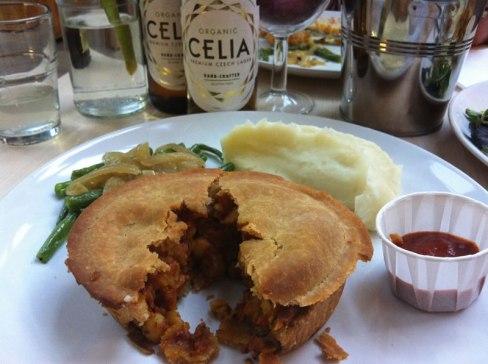 CELIA Lager & Clive's Pies