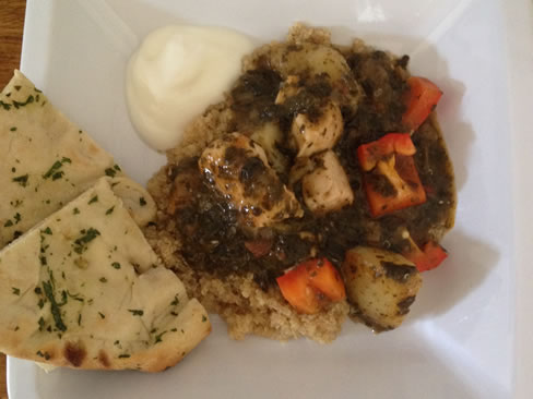 photo of the Saba sauce with chicken and peppers