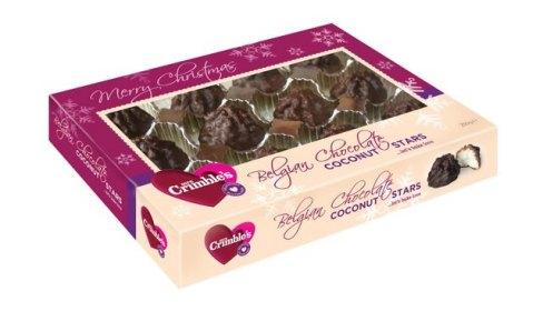 Mrs Crimble's Belgian Chocolate Coconut Stars