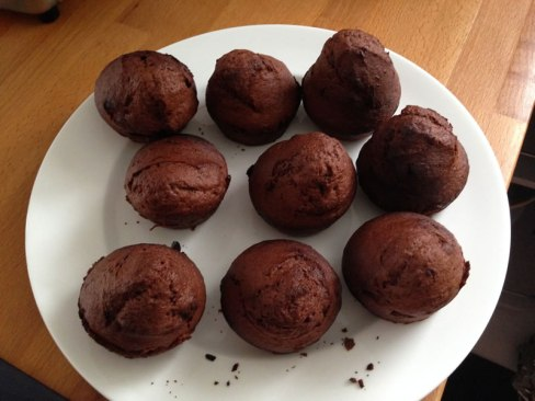 photo of chocolate muffins