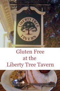 gluten free at liberty tree tavern pin