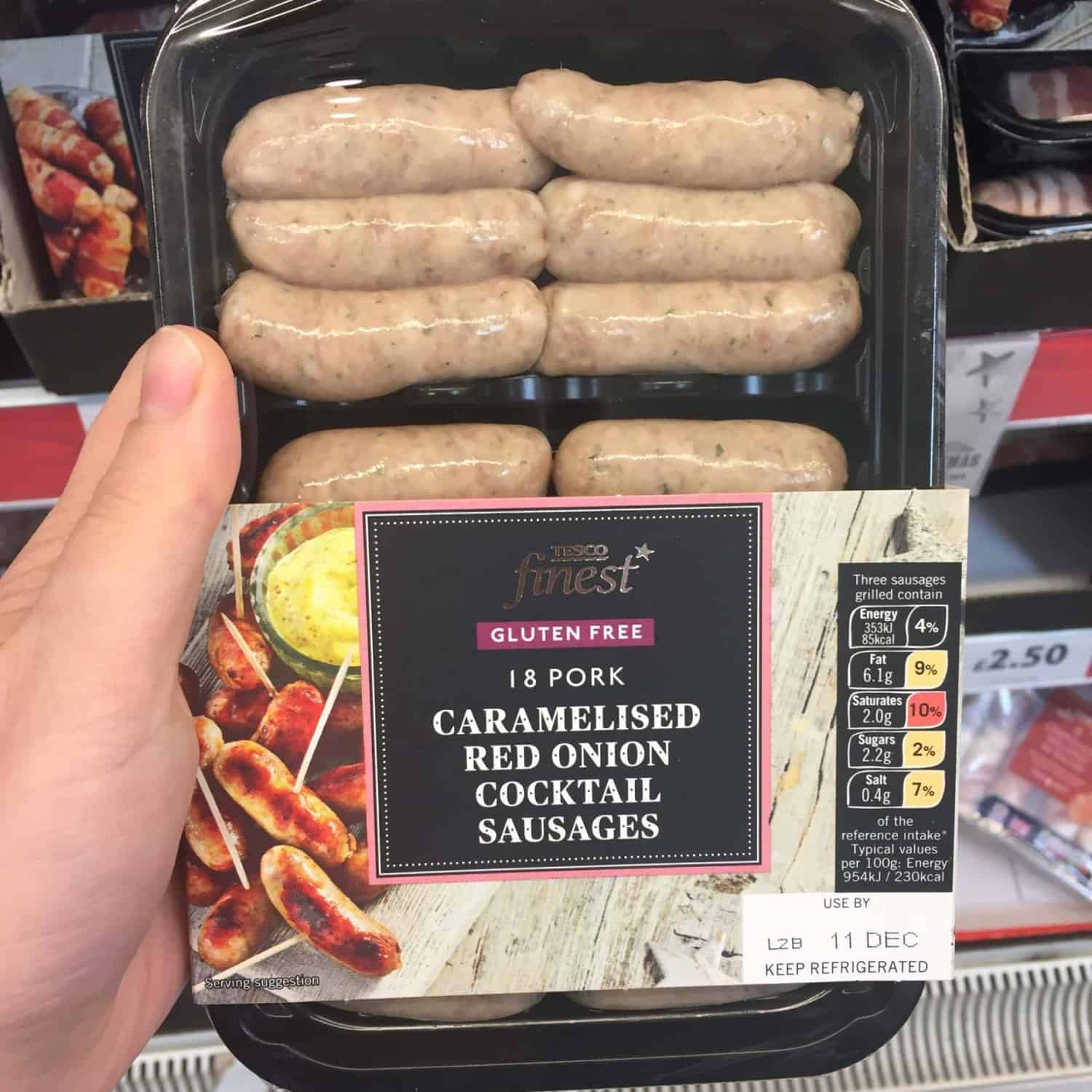 Image result for tesco gluten free sausages