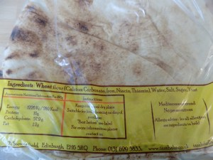 UK bread, ingredient information