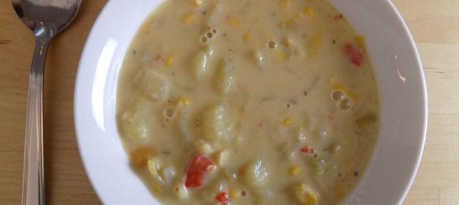 Green chile corn chowder recipe