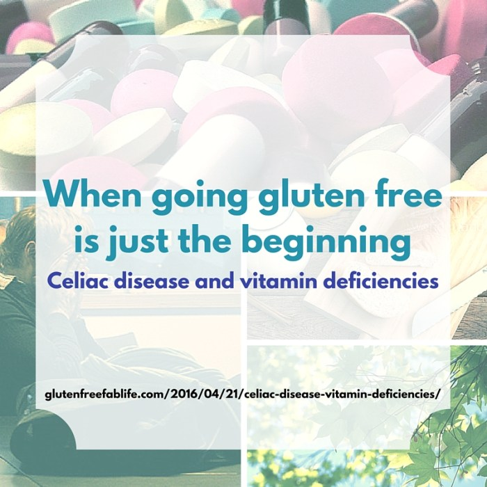 Vitamin deficiencies are often discovered alongside a new celiac disease diagnosis. I'm three years gluten free and experiencing vitamin deficiencies.