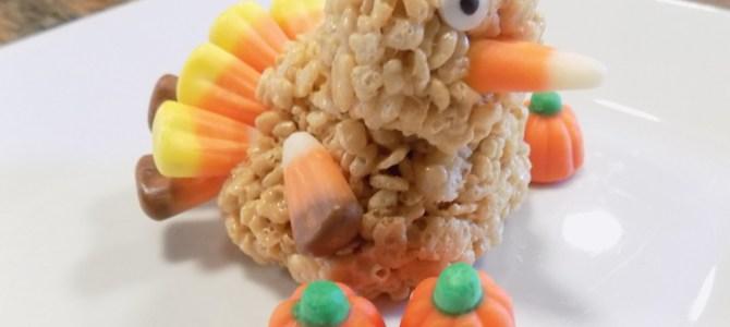 Gluten free Rice Krispies turkey treats