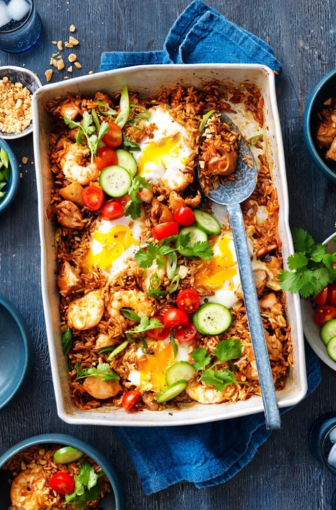 Nasi Goreng Tray Bake Gluten Free