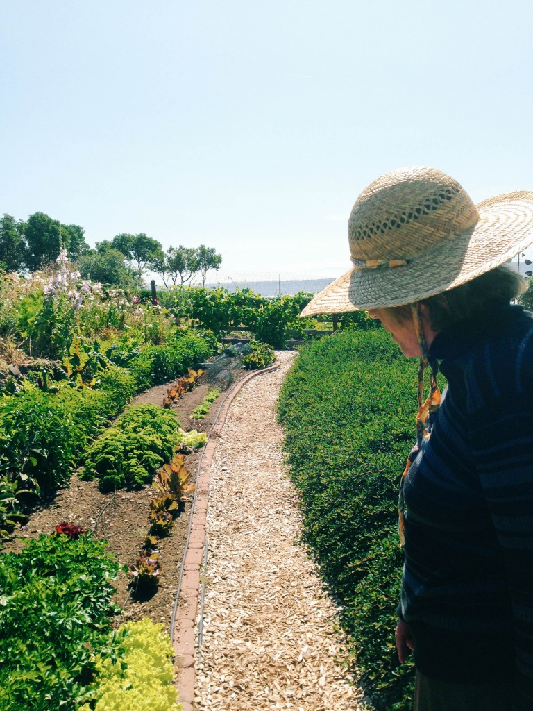 Jo in her garden_