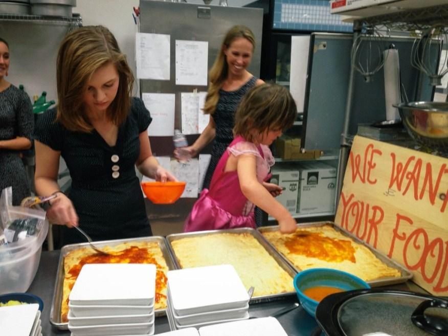 Boston- Lu helping make pizza