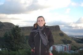Across from Arthur's Seat in Edinburgh, Scotland