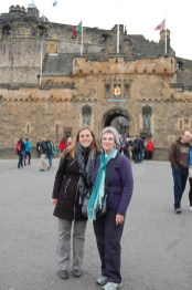 Me and my mom in front of Edinburgh Castle in Scotland