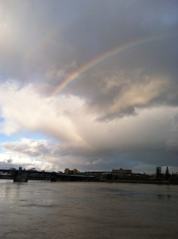Rainbows in Portland, Oregon
