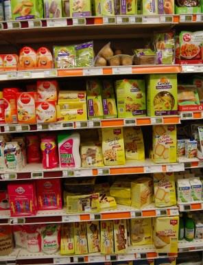 gluten-free food at the Paris supermarket