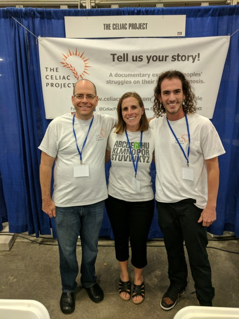 Me with Mike and Cam from the Celiac Project Podcast