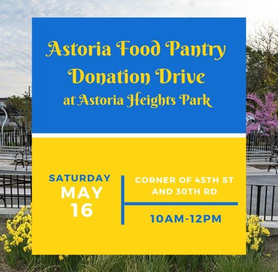 Astoria Food Pantry Donation Drive